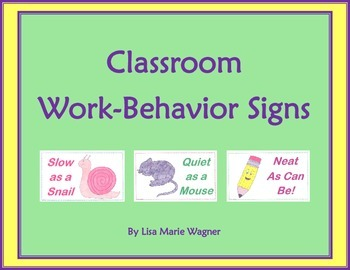 Classroom Work-Behavior Signs