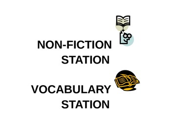 Classroom Work Station Labels