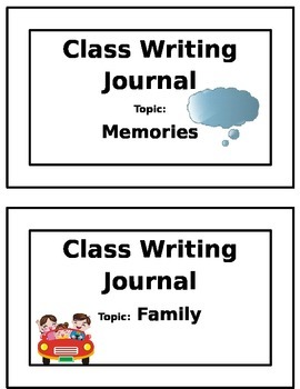 Classroom Writing Journals