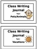 Classroom Writing Journals