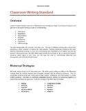 Classroom Writing Standard