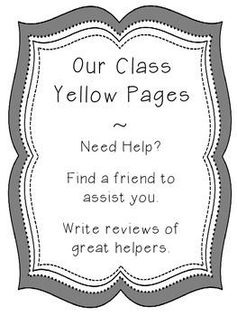 Classroom Yellow Pages