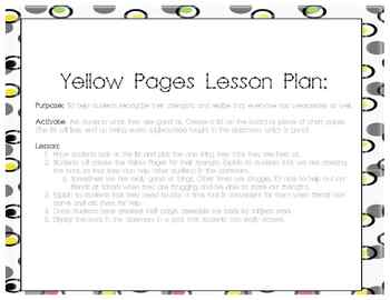 Classroom Yellow Pages - Highlighting Student Strengths