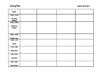 Classroom Zoning Plan