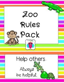 Classroom Zoo Rules