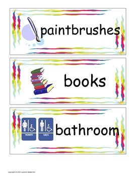 Classroom and Bathroom Labels