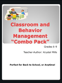 Classroom and Behavior Management Package Gr.6-9 (Great for Back to School)