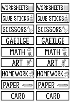Classroom and Folder Labels