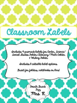 Classroom and Folder Labels *Editable in PPT*