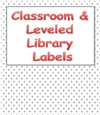 Classroom and Leveled Library Labels