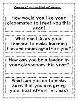 Classroom and Personal Mission Statements