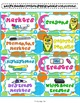 Classroom & School Supply Labels with Groovy Retro Flowers