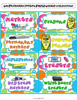 Classroom and School Supply Labels with Groovy Retro Flowers