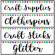 Classroom and School Supply Labels ~ Simple Bright Dots