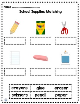 Classroom and School Vocabulary Cards and Activities