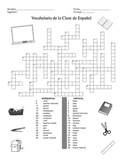 Classroom and School Vocabulary Crossword