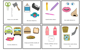 Classroom and Speech-Language Therapy Category Flash Cards