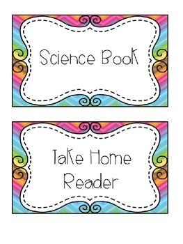 Classroom and Teacher Organization Labels