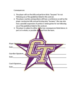 Coaching: Classroom and/or athletics student behavior contract
