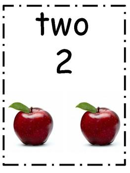 Classroom apple chart English