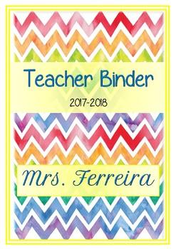 Classroom binder printables