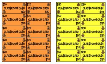 Classroom cash - play money