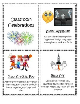 Classroom celebration cards
