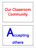 Classroom community - mini book template