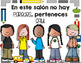 Classroom community posters in Spanish