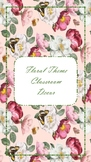 Classroom decor Floral Theme Pack (Style 1)
