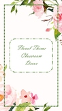 Classroom decor Floral Theme Pack (Style 2)