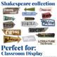 Classroom decor: Shakespeare place signposts
