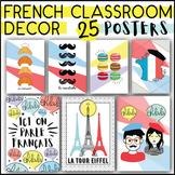 FRENCH CLASSROOM DECOR SET - 25 POSTERS - PRINTABLE DISPLAY