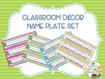 Hailey class decor desk name plates