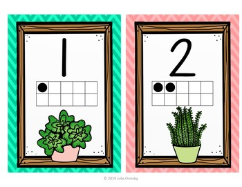 Classroom decor succulent theme ABC and Number posters