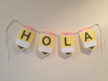 Classroom decoration Bunting Letters Pens