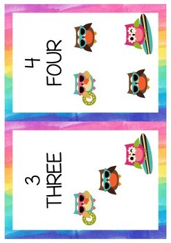 Classroom decorations - Numbers 1-10
