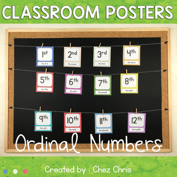 Classroom display : Ordinal Numbers from 1st to 31st