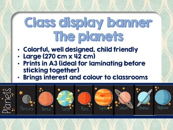 Classroom display - The planets