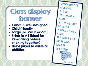Classroom display - Inspirational quote
