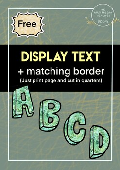 Classroom display lettering