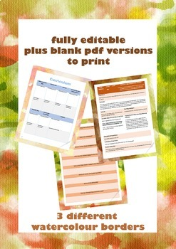 Document bundle:Pre-K professional time saving organisation templates~EYLF links