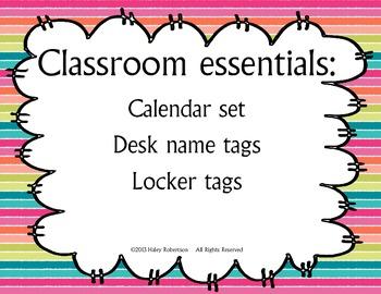 Classroom essentials set