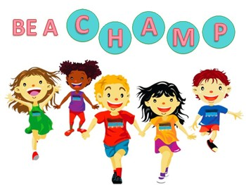 Classroom expectations and Champs rule/Pineapple and Flamingo theme