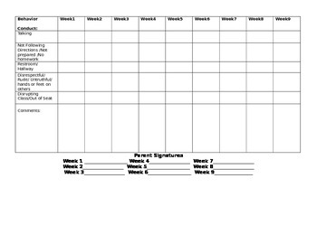 Classroom forms (editable)