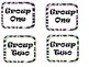 Classroom group number signs - zebra print