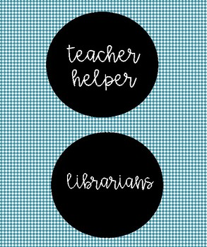 Classroom helper/job tags for mini pocket charts