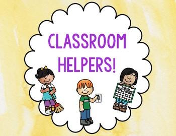 Classroom helpers!