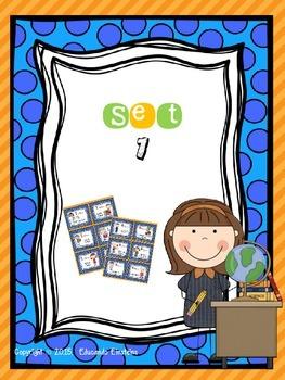 Classroom helpers bilingual set *SPANISH-ENGLISH*