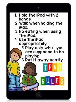 {Editable} Classroom iPad Rules